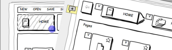 Creating interactive wireframes is really easy with our drag & drop feature.